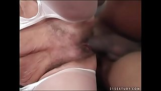 Interracial granny fuck -..