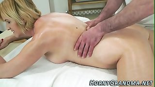 Assfucked grandma spunked