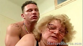 Sexy granny with big tits..