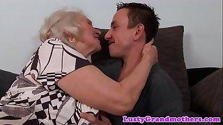 Busty granny fucked and..