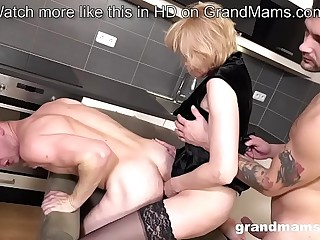 Granny Pegging young guy..