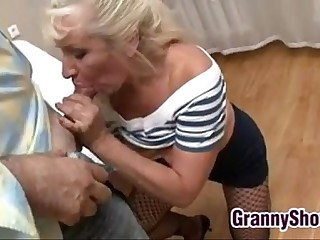 Granny Gets Pounded In Many..