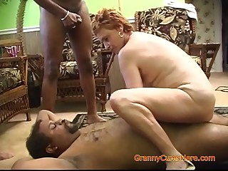 Interracial Gangbang with a..