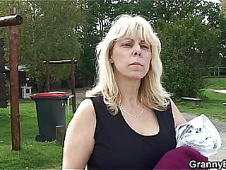 Old hot granny fucks younger..