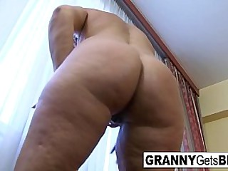 Hot granny loves big cock