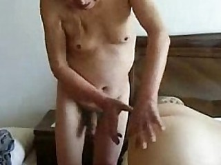 Granny cuckold. Amateur home..