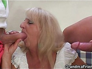 Blonde granny in hot..