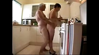 Old couple having fun...